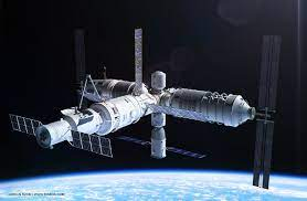 Astronauts in china's new spacestation