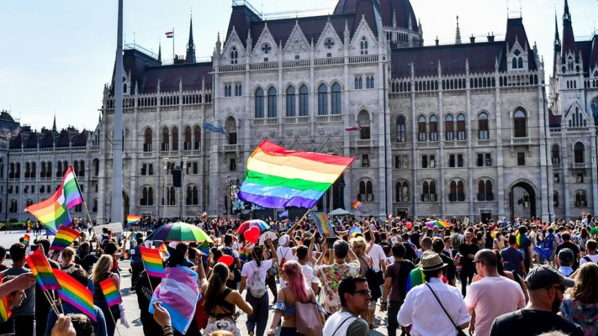 Protest in Hungary against the newly passedlaw