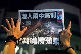 Adieu for Apple Daily Newspaper inHongkong