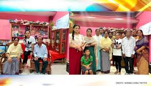 Mirabai Chanu with her family