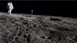Astronaut in Moon