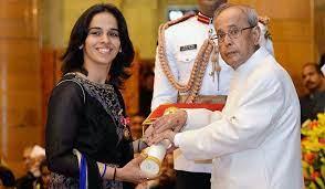 Saina being awarded the Padma Bhushan