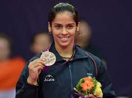 Saina with her Olympic bronze medal